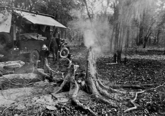 Woodie-camping